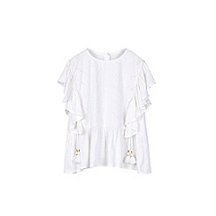 Outfit Kids - Girls' white broderie frill top
