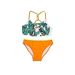 Outfit Kids - Girls' white jungle bikini