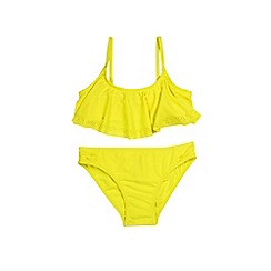 Outfit Kids - Girls' yellow textured frill bikini set