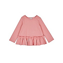 Outfit Kids - Girls' pink peplum sweat top