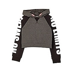 Outfit Kids - Girls' charcoal black cropped hoodie