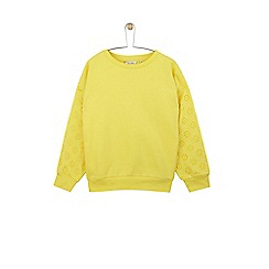 Outfit Kids - Girls' yellow broderie mix sweatshirt