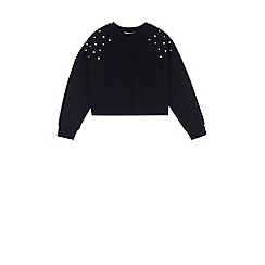 Outfit Kids - Girls' white star studded sweat top