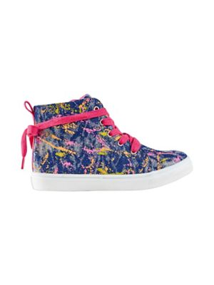 Outfit Kids - Girls' navy paint splatter trainers