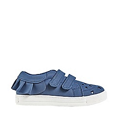 Outfit Kids - Girls' navy laser cut low trainers