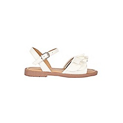 Outfit Kids - Girls' white frill sandal