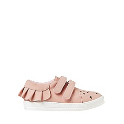 Outfit Kids - Girls' pink laser cut low trainers