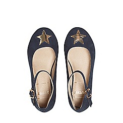 Outfit Kids - Girls' navy blue ballerina pumps