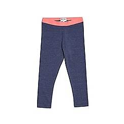 Outfit Kids - Girls' blue denim marl leggings