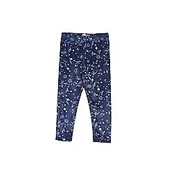 Outfit Kids - Girls' navy velvet space print leggings