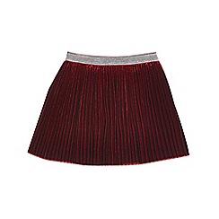 Outfit Kids - Girls' red velvet pleated skirt