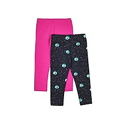 Outfit Kids - 2 pack girls' pink and black leggings