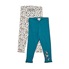 Outfit Kids - 2 pack girls' grey floral leggings