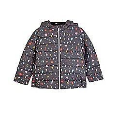 Outfit Kids - Girls' charcoal black padded jacket