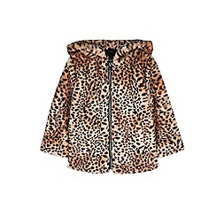 Outfit Kids - Girls' brown leopard print bomber jacket