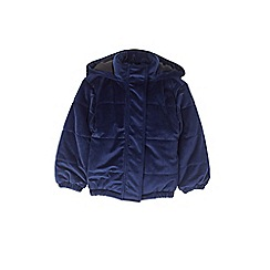 Outfit Kids - Girls' navy oversized padded jacket