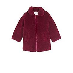Outfit Kids - Girls' red teddy fleece coat