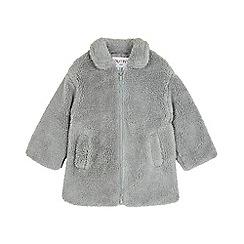 Outfit Kids - Girls' grey teddy fleece coat