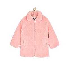 Outfit Kids - Girls' pink teddy fleece coat