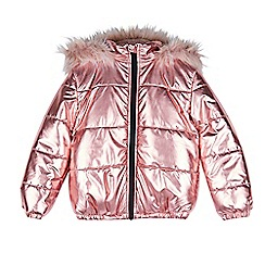 Outfit Kids - Girls' pink oversized jacket
