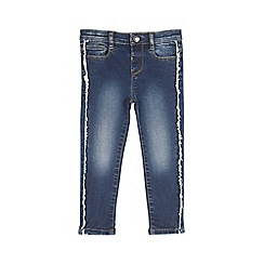 Outfit Kids - Girls' blue fringe embroidered skinny jeans