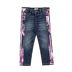 Outfit Kids - Girls' blue metallic skinny jeans