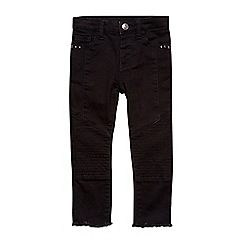 Outfit Kids - Girls' black skinny biker jeans