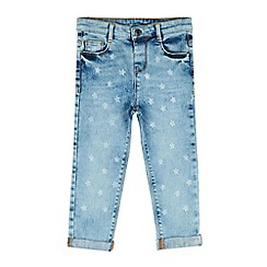 Outfit Kids - Girls' blue star print slouch fit denim jeans