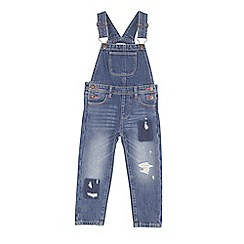 Outfit Kids - Girls' mid wash denim dungarees