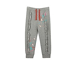 Outfit Kids - Girls' grey marl joggers with paint splatter details