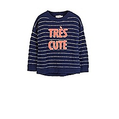 Outfit Kids - Girls' navy slogan jumper