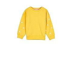 Outfit Kids - Girls' yellow daisy sweatshirt