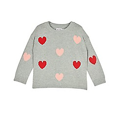 Outfit Kids - Girls' grey heart knitted jumper