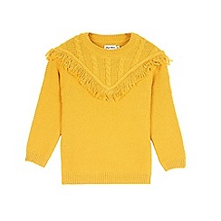 Outfit Kids - Girls' yellow fringe knitted jumper