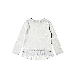 Outfit Kids - Girls' grey frill hem jumper