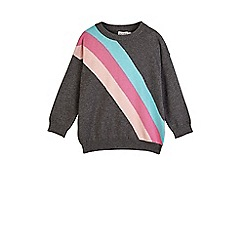 Outfit Kids - Girls' washed black stripe jumper