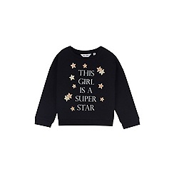 Outfit Kids - Girls' black eyelash knit jumper