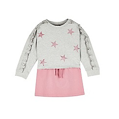 Outfit Kids - Girls' pink star sweat and skirt set