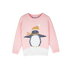Outfit Kids - Girls' pink penguin christmas jumper