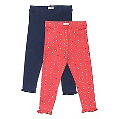 Outfit Kids - 2 pack girls' red and navy leggings