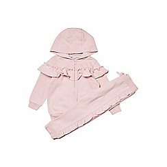 Outfit Kids - Girls' pink frill zip tracksuit set