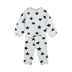 Outfit Kids - Girls' cream star print sweat top and jogger set