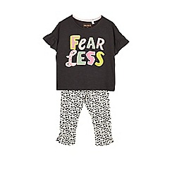 Outfit Kids - Girls' multicoloured fearless top and leggings set