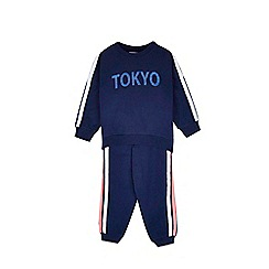 Outfit Kids - Girls' navy Paris jogger set
