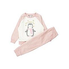 Outfit Kids - Girls' pink penguin set