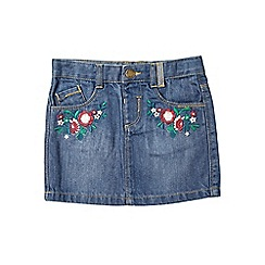 Outfit Kids - Girls' mid wash embroidered denim skirt