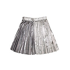 Outfit Kids - Girls' silver pleated skirt