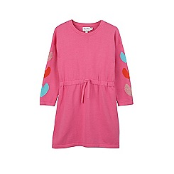 Outfit Kids - Girls' pink knitted dress with heart detailing