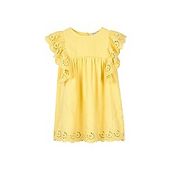 Outfit Kids - Girls' yellow woven dress with angel sleeves