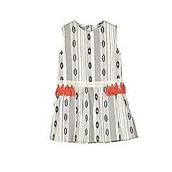 Outfit Kids - Girls' monochrome striped woven dress